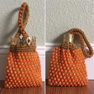 Vintage • Handmade Beaded Wristlet Evening Bag